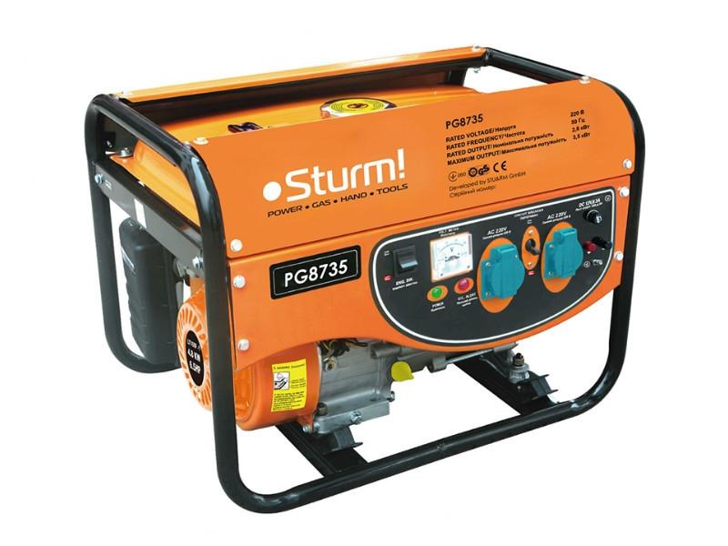 Генератор бензиновый, электро- генератор (3500 Вт) Sturm PG8735