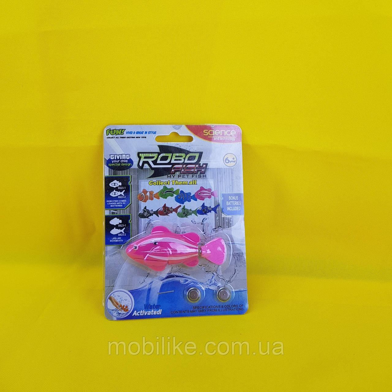Интерактивная игрушка рыбка робот (робо рыбка) Nano Robo Fish Розовая