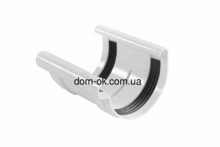Profil Соединитель желоба со вкладышем,  система 130/100 RAL 9016  белый