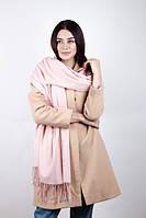 Нарядный женский шарф светлого цвета