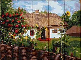 Картина рисование по номерам ArtStory Украинский домик ASW103 30х40 см Сооружения, дома, городской пейзаж