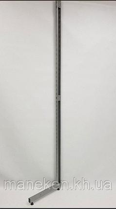 Рейка-опора h2.2двурядная, прис-ная металлик, фото 2