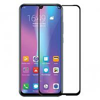 Захисне скло Full Glass Glue Huawei P Smart 2019 - Чорний