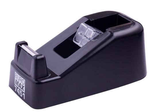 Диспенсер для скотчу 18 мм, чорний Buromax