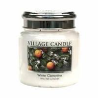 Аромасвеча ТМ Village Candle Зимний клементин (время горения до 105 часов)