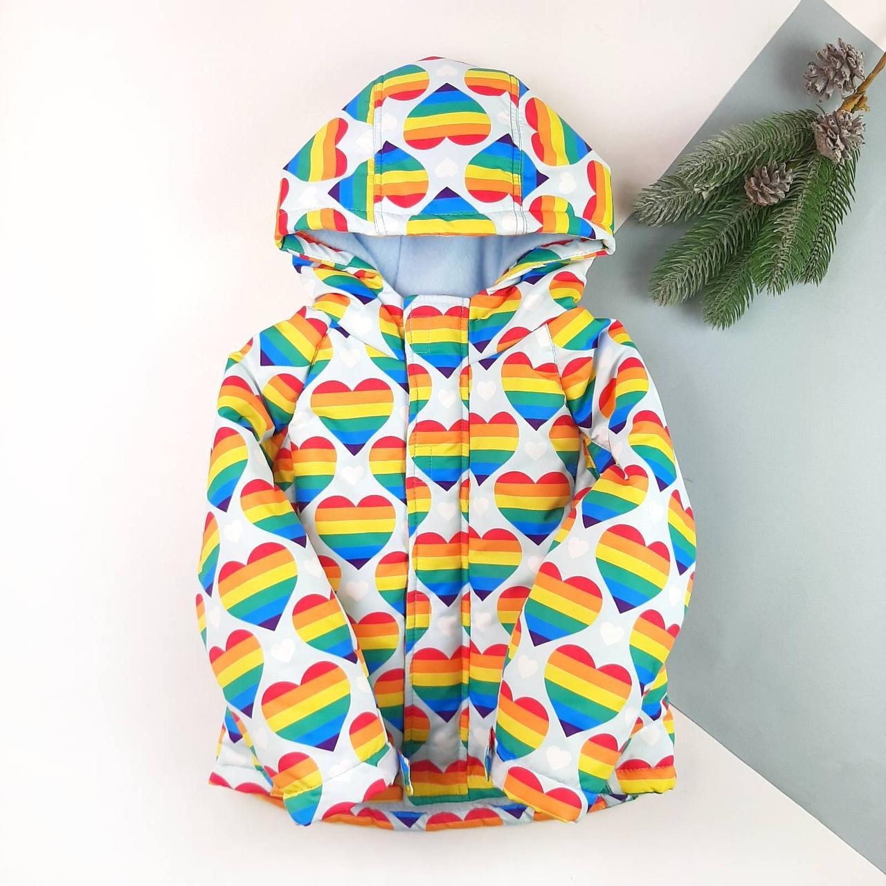 Детская зимняя куртка для девочки 92, 98, 104, 110, 116, 122