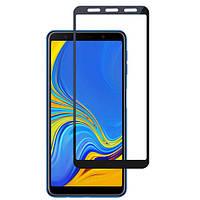 Захисне скло Full Glass Glue Samsung A750 Galaxy A7 2018 - Чорний