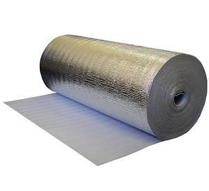 Звукозащитная фольгированная подложка-утеплитель под ламинат самоклеющаяся 5 мм