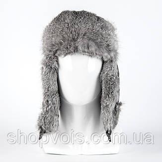 Зимняя мужская шапка ушанка из натурального меха SU36, фото 2