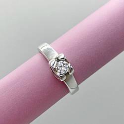 Серебряное кольцо сердечко с камнем