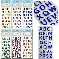 Наклейки Буквы 1 уп -12 планшеток