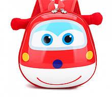 Orteker Рюкзак детский Orteker 3D дошкольный Super Wings Супер Вингс Супер крылья Джетт красный