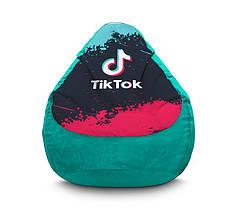"""Кресло мешок """"Tik Tok. Splash. Light blue"""" Флок"""