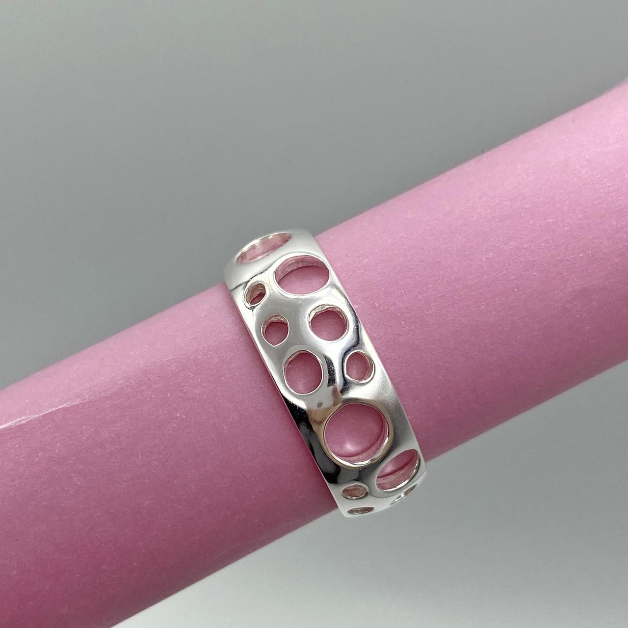 Серебряное кольцо с дырочками