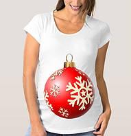 """Футболка для беременной с принтом """"Елочный шар"""" Push IT"""