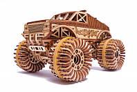 Монстр Трак (Monster Truck) Wood Trick (556 деталей) - механический деревянный 3D пазл конструктор