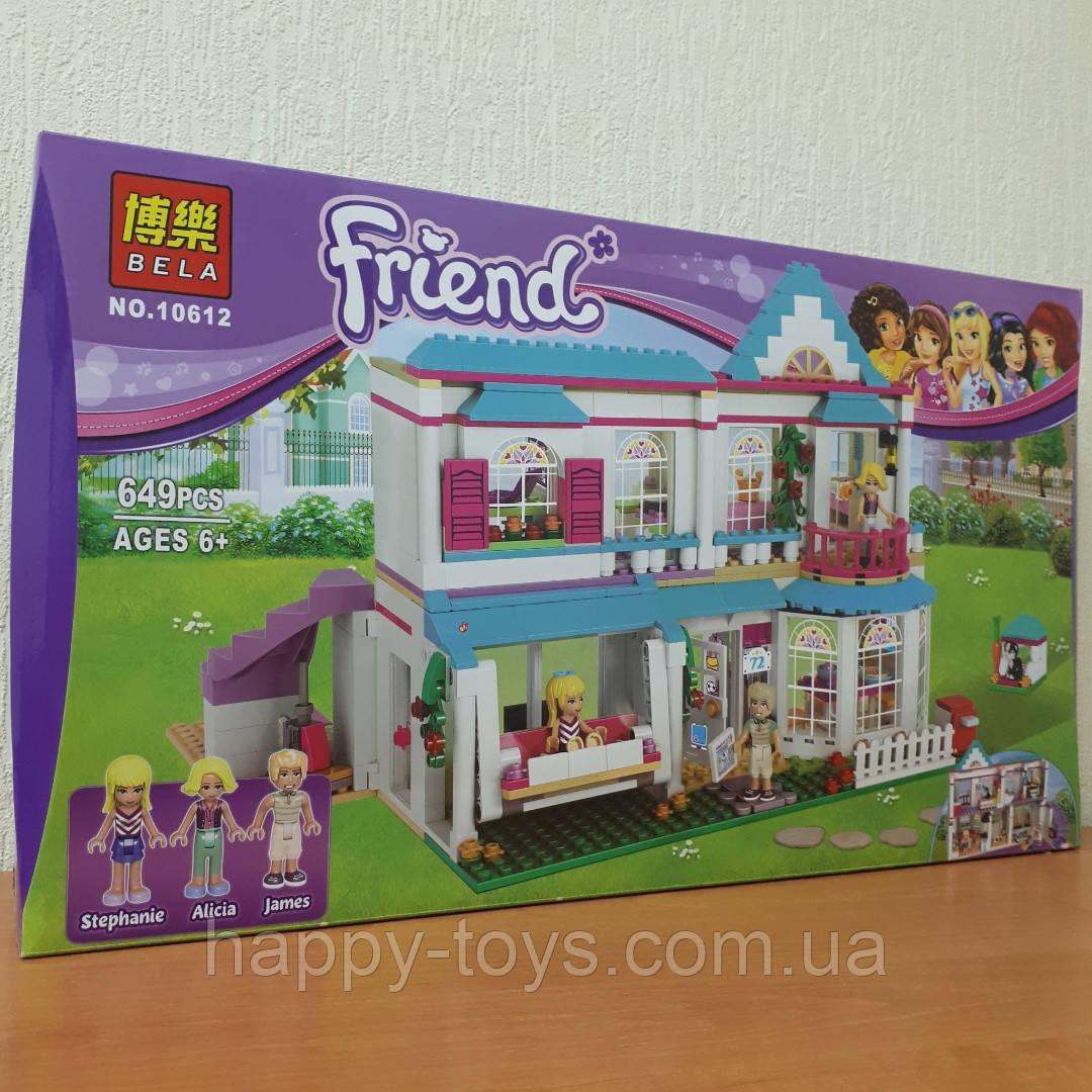 Конструктор Bela 10612 Friends Дом Стефани 649 деталей