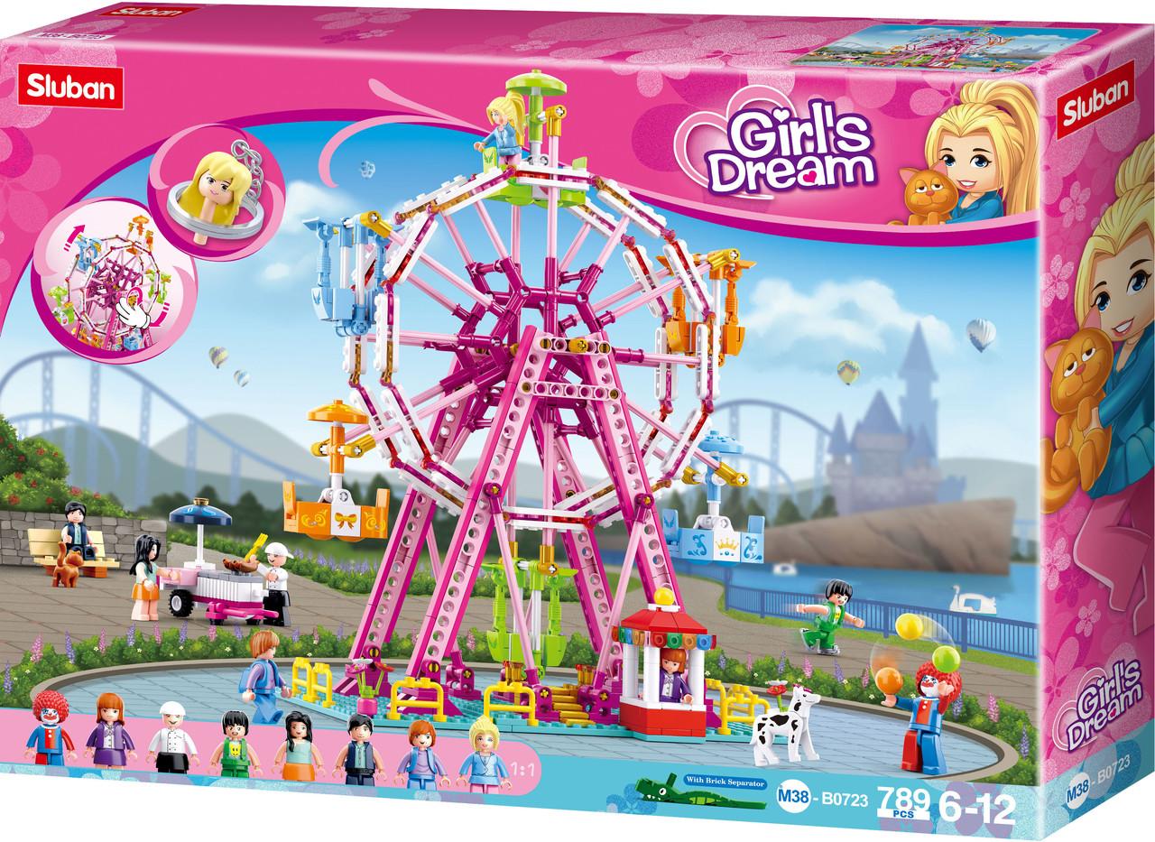 """Конструктор Sluban Girls Dream M38-B0723 """"Парк развлечений: колесо обозрения"""" 789 дет"""