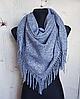 Теплый платок Миранда 105*105 см синий