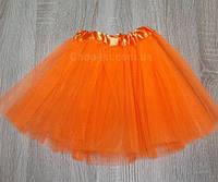 Юбка детская фатиновая (оранжевая) до 6 лет