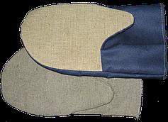 Рукавицы рабочие х/б (грета) з брезентовым наладонником