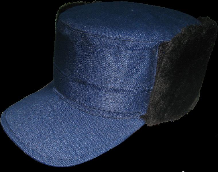 Кепка зимняя тк грета черная/синяя