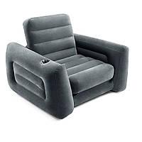 Надувное кресло Intex 66551, 224 х 117 х 66 см, черное, фото 1