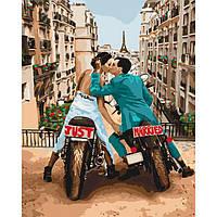 Картина рисование по номерам Идейка Любовь в большом городе КНО4656 40х50см набор для росписи, краски, холст,