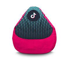 """Кресло мешок """"Tik Tok. Halftone. Pink"""" Флок"""