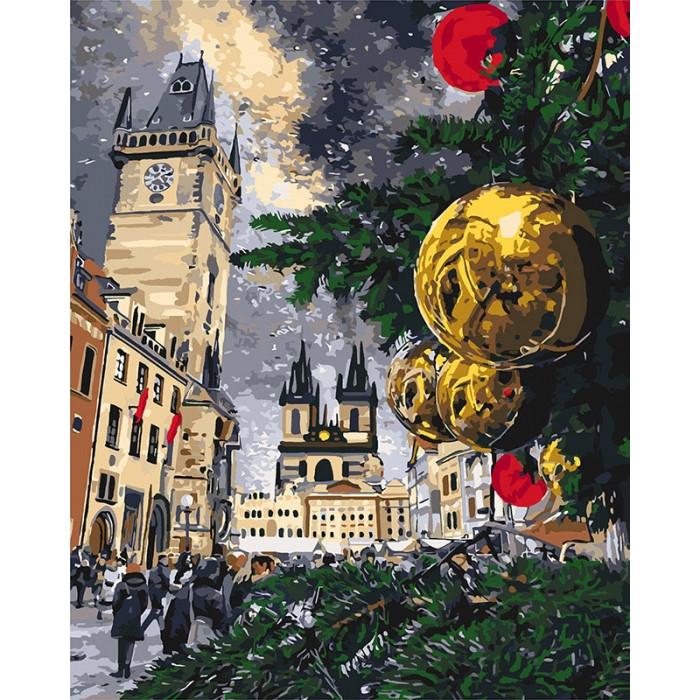 Картина по номерам Новогодний город