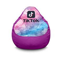 """Кресло мешок """"Tik Tok. Watercolor. Violet"""" Оксфорд"""