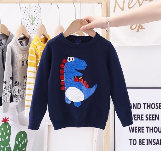 Детский свитер с пайетками 100, 110, 120, 130, 140