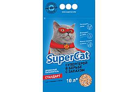 Наповнювач деревне SuperCat (Суперкет) Стандарт без аромату 3кг для котячого туалету