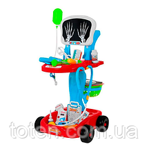 Игровой набор Доктор 60 см Тележка 22 предмета, Рентген 660-44. Красный Т