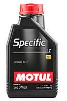 Моторное масло Motul SPECIFIC 17 SAE 5W-30, 1L