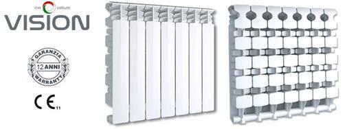Радиатор алюминиевый отопления (батарея) 500x10 Fondital Vision (боковое подключение)