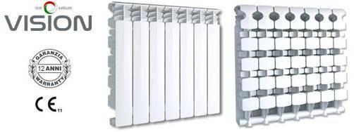 Радиатор алюминиевый отопления (батарея) 500x10 Fondital Vision (боковое подключение), фото 2
