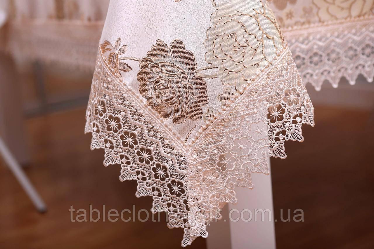 Скатерть Праздничная Роза Круглая 3D 152-152