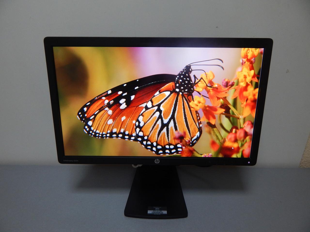 МОНИТОР б/у HP E221c  21,5″ дюйма FULL HD/ IPS /WLED, DVI, VGA, DisplayPort, 2.0 USB HUB / 16:9