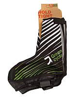 Бахилы д/велообуви Green Cycle NC-2461-2014 черно-зеленые S