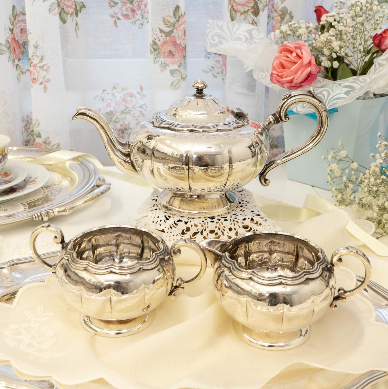 Шикарный посеребренный чайный сервиз, серебрение, Канада, Oneida Silversmith