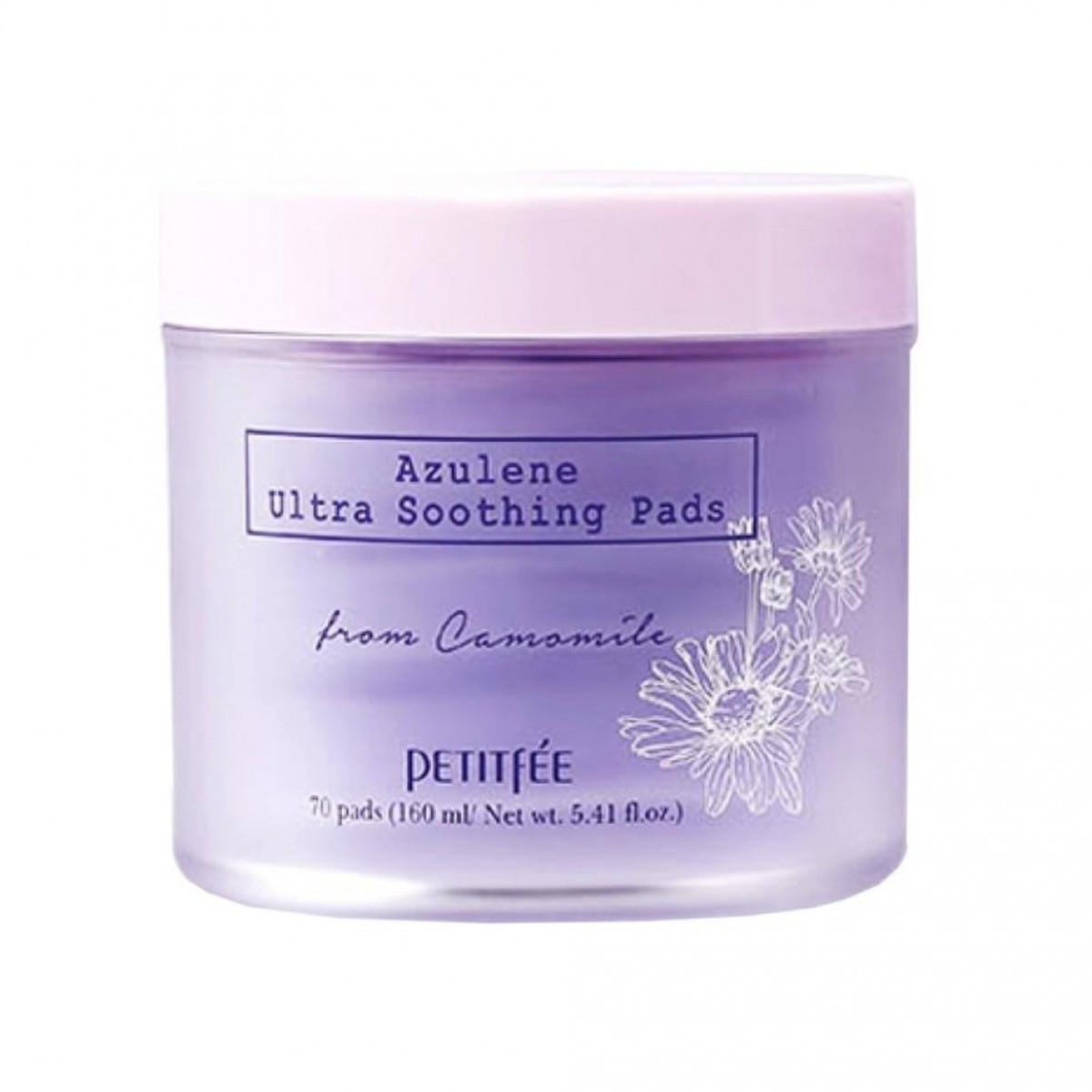Ультра-увлажняющие подушечки PETITFEE Azulene Ultra Soothing Pads (Срок годности: до 04.2021)