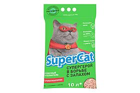 Наповнювач деревне SuperCat (Суперкет) з ароматизатором 3кг для котячого туалету