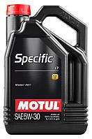 Моторное масло Motul SPECIFIC 17 SAE 5W-30, 5L