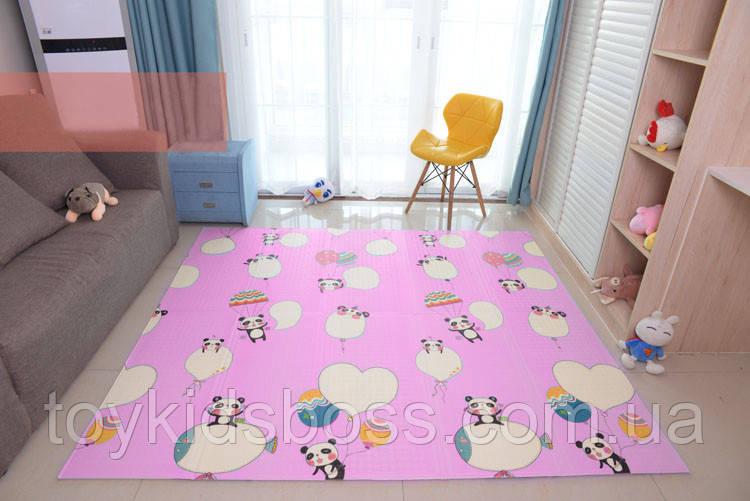 """Дитячий складаний розвиває термо килимок """"Панди"""" 1200 х 1800 х 10 мм"""