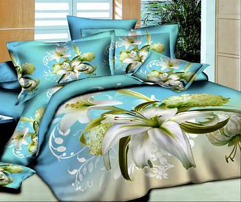 Двуспальное постельное белье 3Д микросатин