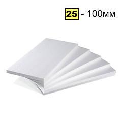 Пінопласт ПСБ-С-25 100мм 1000*500мм Pinplast