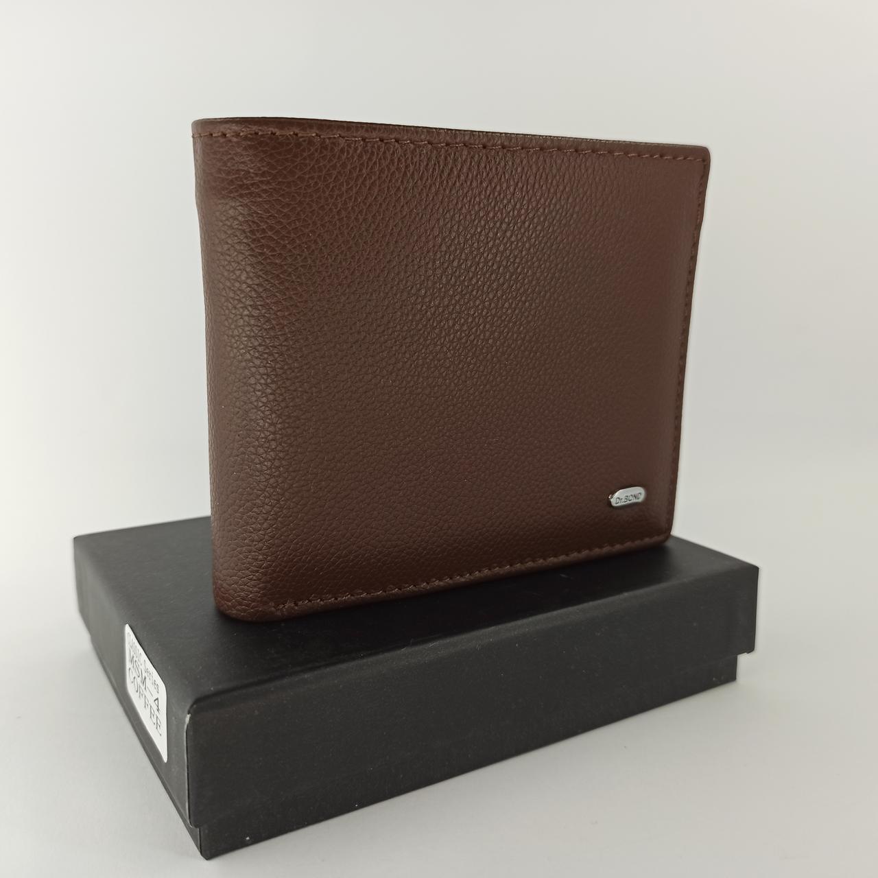 Кожаный мужской кошелек портмоне на магнитах DR. BOND MSM-4 coffee