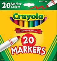 Фломастеры Crayola Класические Classic Markers Broad Line 20 шт 58/7767