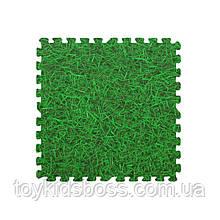 Модульное напольное покрытие 600*600*10 мм зеленая трава